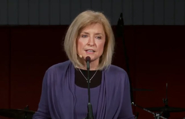 Nancy Grisham speaking at Biola University